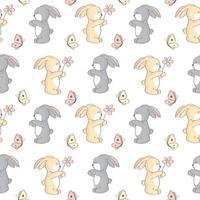 söt kanin sömlösa mönster