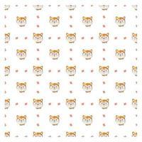 nahtloses Muster mit niedlichem Fuchs
