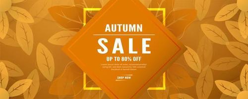 Orange verlässt Herbst Verkaufsförderungsbanner