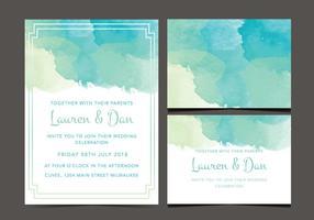 Freie Hochzeits-Einladung vektor