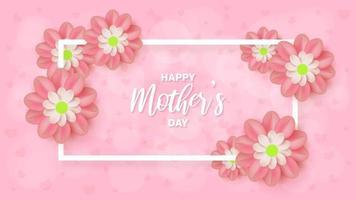 Rechteck Muttertag Hintergrund vektor