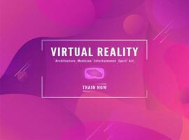 rosa Farbverlauf Virtual-Reality-Vorlage vektor