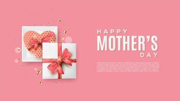 Geschenkboxen auf rosa Hintergrund