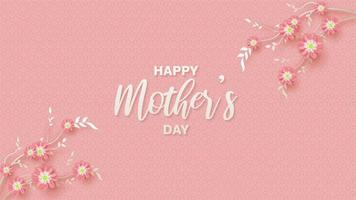 rosa Hintergrund des Muttertags vektor
