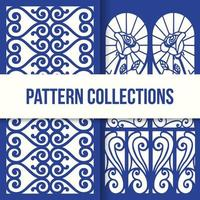 Blumenblau dekoratives Musterdesign vektor
