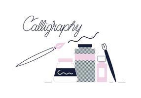 Gratis kalligrafi vektor