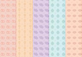 Kostenlose Hochzeit Vektor Muster
