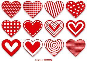 Set von modernen und niedlichen Herzvektoren vektor