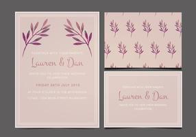 Freie Hochzeits-Einladung