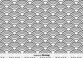Orientaliska hav vektor mönster