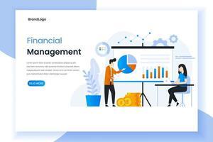 Zielseite des Finanzmanagements vektor