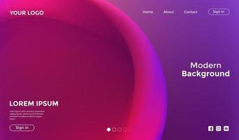 abstrakte lila rosa Hintergrund-Landingpage-Vorlage vektor