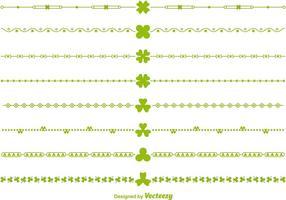 Gröna Vector Irländska Gränser och Divider Vektorer