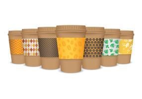 Realistische Kaffee-Hülsen-Vektoren