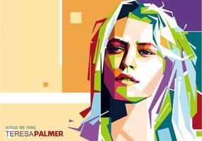 Teresa Palmer Porträt Vektor