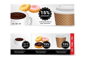 Gratis Kaffee Gutschein Vektor