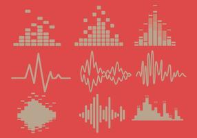 Sound Bars Orange Hintergrund Vektor