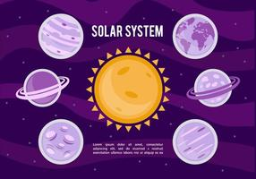 Free Solar System Vektor Hintergrund
