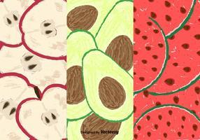 Freie Früchte Scheiben Muster vektor