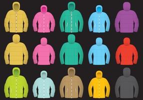 Färgglada Wintercoat Vectors
