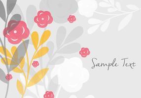 Dekorativ blommig bakgrundsdesign vektor