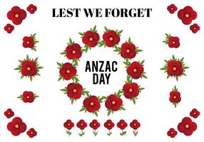 Free Vector Design-Elemente für Anzac Day