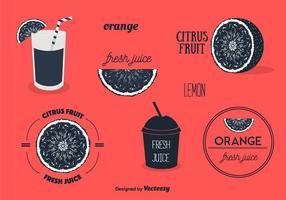 Obst-Etiketten Set Vektor