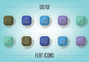 Gratis platt UX / UI ikoner vektor