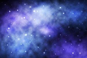 blå rymdgalax med lysande stjärnor och nebulosa vektor