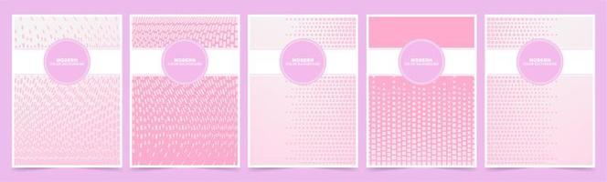 rosa und weiße Würfelmuster-Abdeckungsschablonen vektor