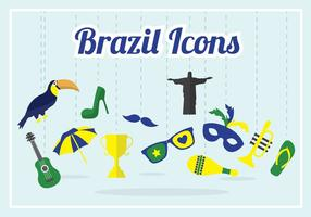 Brasilien-vektor-Ansammlung vektor