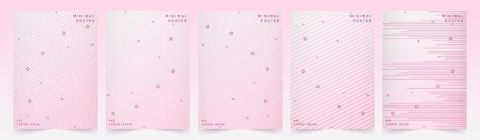 rosa dynamisches Linienmuster-Abdeckungsset