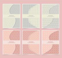 Retro farbig gemustertes Cover-Set