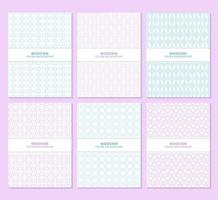 lila und blau gemustertes Buchcover-Set