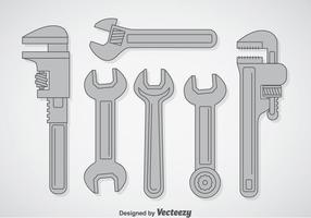 Schraubenschlüssel Vektor Sets