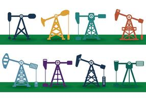 Ölfeld Vektor