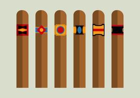 Kostenlose Zigarren Vector Pack