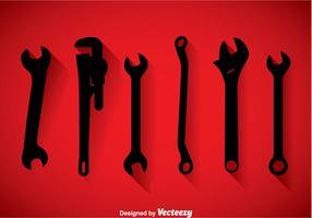 Schraubenschlüssel Black Icons Vector