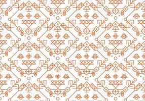 Röd dekorativ mönstervektor