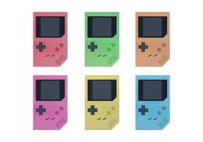 Gratis vattenfärg Nintendo Game Boy Vectors