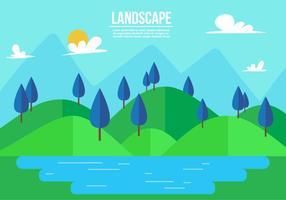 Freie Landschaft Vektor-Illustration vektor