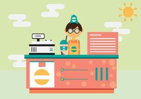 Free Cafe Shop Vektor Hintergrund