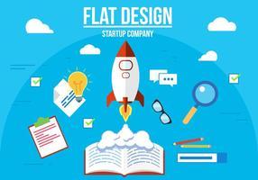 Free Startup Unternehmen Vektor-Illustration vektor
