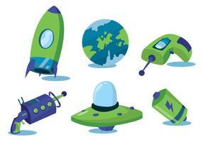 Weltraum Element Vektor Set