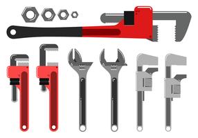 Free Monkey Wrench Vektor
