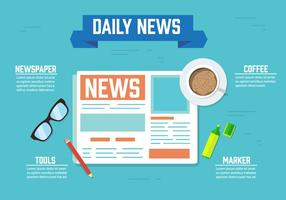 Kostenlose Daily News Vector