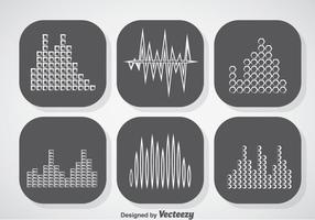 Musik ljudstänger ikoner vektor