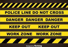 Polizei-Linie und Gefahr Bänder Vektor-Sets vektor