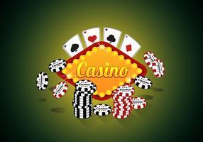 Casino Royale Poker Premium Kvalitets Illustration Vektor