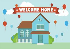 Willkommen Home Hintergrund Flach Vektor